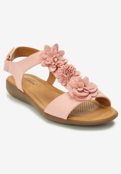 The Bonnie Sandal by Comfortview®, SILVER PINK