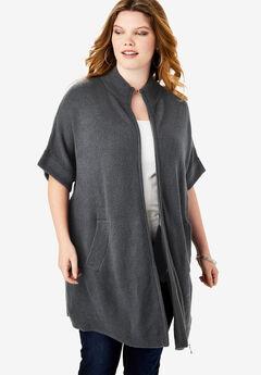 Soft Luxe Zip-Front Cardigan,