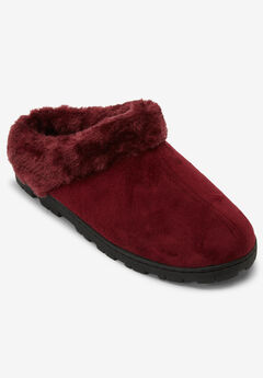 The Andy Clog Slipper by Comfortview®, POMEGRANATE