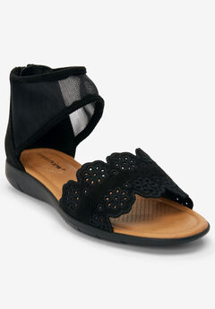 The Caia Sandal by Comfortview®, BLACK