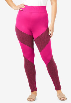 Colorblock Performance Legging, VIVID PINK COLORBLOCK