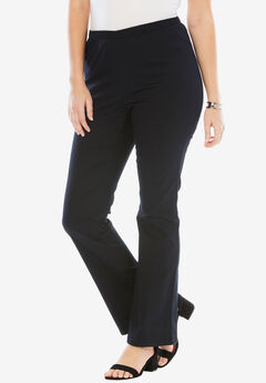 Bootcut Pull-On Stretch Jean by Denim 24/7®, BLACK
