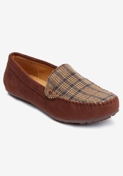 The Milena Moccasin , BROWN PLAID