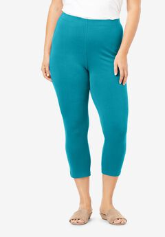 Essential Stretch Capri Legging, DEEP TURQUOISE