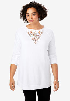 Lace Sweatshirt,