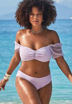 GabiFresh Cup Sized Off The Shoulder Bikini Set,