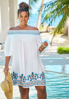 Off-The-Shoulder Cover Up,