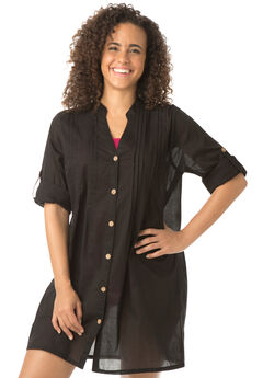Cotton Shirt Coverup,