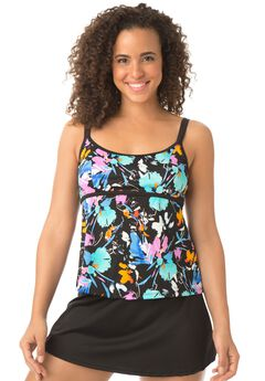 de1757c201 Fit-And-Flare Tankini Top by Beach Belle