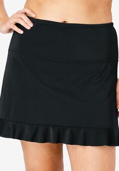 Ruffle-Trim Swim Skirt,