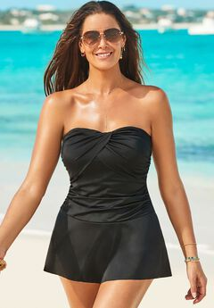 Ruched Skirted Swimdress,