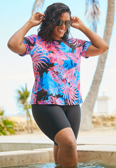 The Swim Tee, EVENING TROPICAL FLORAL