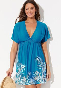 Kate V-Neck Cover Up Dress, BLUE