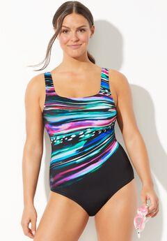 Chlorine Resistant Lycra Xtra Life Tank One Piece Swimsuit, STARBURST