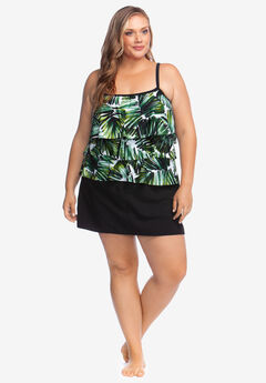 Three-Tiered Tankini Top by Maxine of Hollywood,