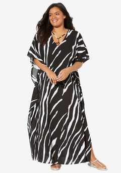 V-Neck Swim Caftan,