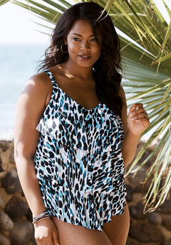 c6a00aa10b485 Flyaway Tankini Top with Bust Support| Plus Size Swimwear | Jessica ...