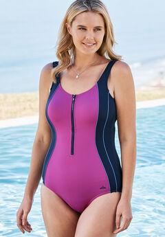 Zip-Front Swimsuit,