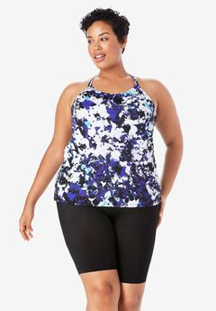 Double-Strap Tankini Top with Racerback,
