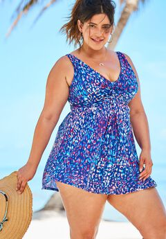 Twist Front Swimdress,