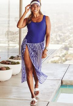 Mystic Swimsuit With Sarong, PAISLEY STRIPE