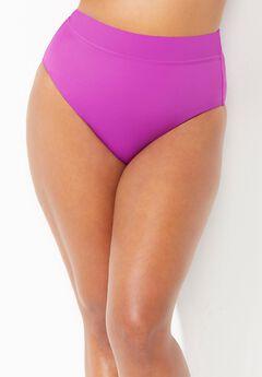 High Waist Bikini Bottom, BEACH ROSE PALM