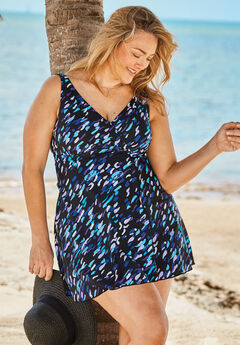 Surplice Swimdress with Tummy Control,