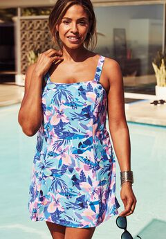 Princess-Seam Swimdress,