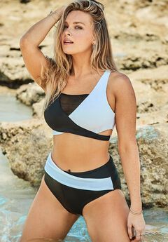 Hollywood Colorblock Wrap Bikini Set,