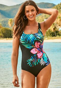 Tank One Piece Swimsuit, FLORAL