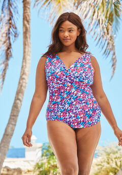 95064782a3 Women's Plus Size Tummy Control Swimsuits | Jessica London