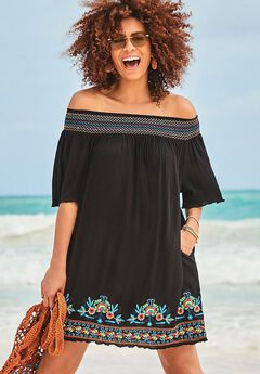 Rhiannon Embroidered Cover Up Dress,
