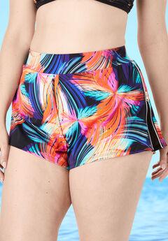 Side-Zip Swim Short with Built-In Brief,