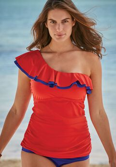 Ruffled Tankini Top,