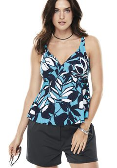 Twist Front Tankini Top,
