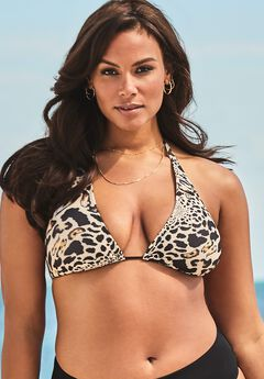 Ashley Graham Fearless Bikini Top, CHEETAH