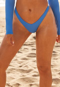 Camille Kostek V-Cut Bikini Bottom, ELECTRIC BLUE