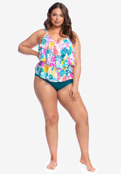 Triple-Tier Tankini Top By Kenneth Cole Reaction,