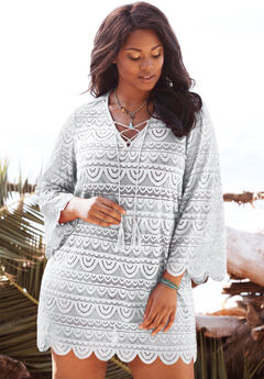 Lace Tassel Coverup,