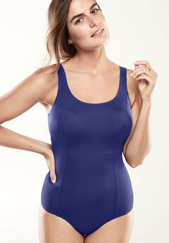 Solid maillot by Swim365®,
