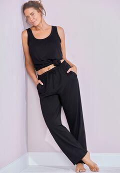 Lily Lounge Pant, BLACK