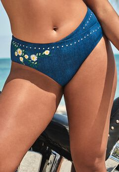 Ashley Graham Revere High Waist Bikini Bottom,