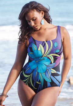 Tropical Floral Swimsuit by Longitude, FLORAL PRINT
