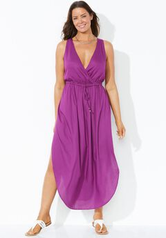 Tenley Surplice Cover Up Maxi Dress, SPICE