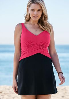 Underwire Swimdress, BRIGHT FUCHSIA BLACK