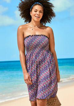 Jenna Bandeau Cover Up Dress, SCARF