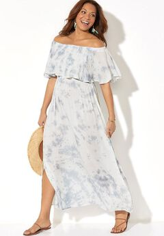 Portia Bandeau Cover Up Maxi Dress,