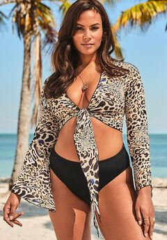 Ashley Graham Cover Up Crop Top,