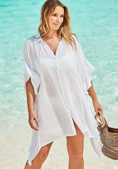 Sawyer Button Up Cover Up Shirt,