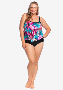 Two-Tier Swimsuit by Maxine of Hollywood,